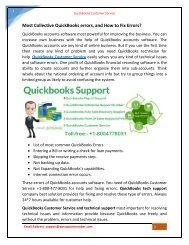 QuickBooks Customer Service and Support Phone Number +1-800-477-8031 USA