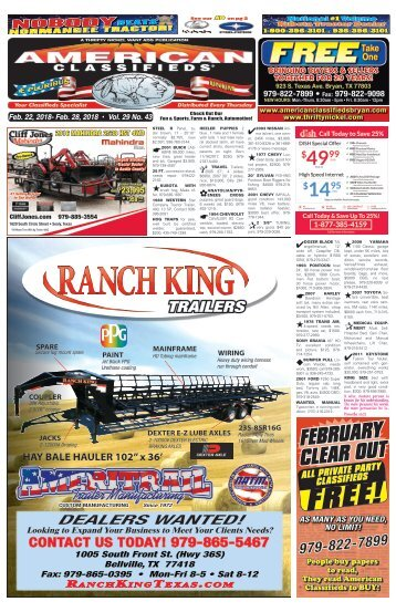American Classifieds February 22nd Edition Bryan/College Station