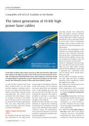 The latest generation of 10-kW high power laser ... - Laser Magazin