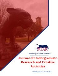 Journal of Undergraduate Research and Creative Activities Volume 1, Issue 2