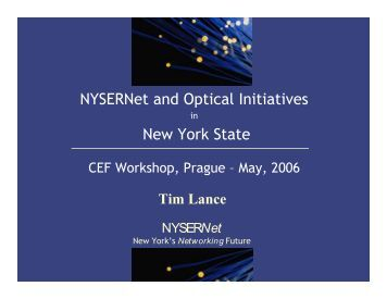 NYSERNet's New York City Metro Dark Fiber Network