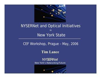 NYSERNet's New York City Metro Dark Fiber Network