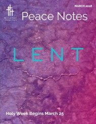 Peace Notes March 2018 - Word of Peace Lutheran Church