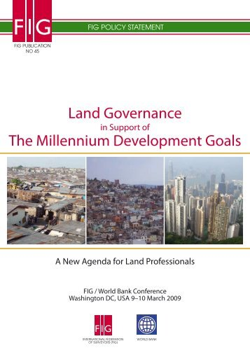 Land Governance in Support of the MDGs - FIG