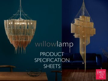 Willowlamp Specification Sheets