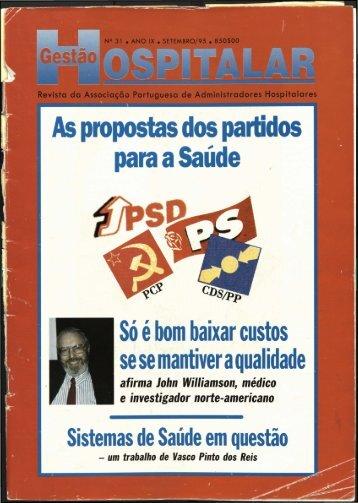Gestão Hospitalar N.º31 1995