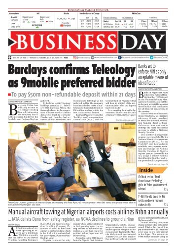 BusinessDay 22 Feb 2018