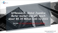 QYResearch: Global Jaundice Meter market size will reach about 89.39 Million USD by 2022