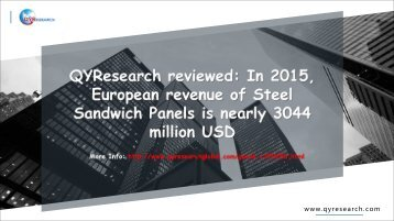QYResearch reviewed: In 2015, European revenue of Steel Sandwich Panels is nearly 3044 million USD