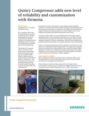 Quincy Compressor adds new level of reliability and customization ...