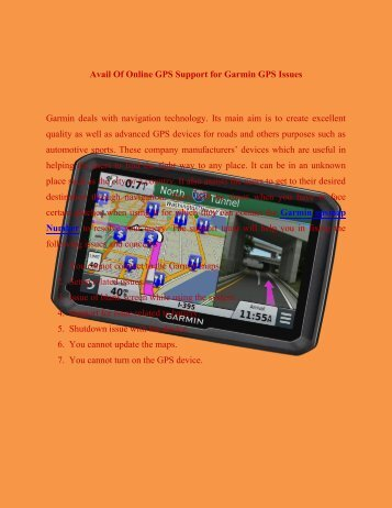 Avail Of Online GPS Support For Garmin GPS 1800215732 Issues 1800215732