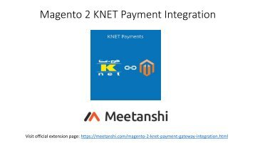 Magento 2 KNET Payment Integration