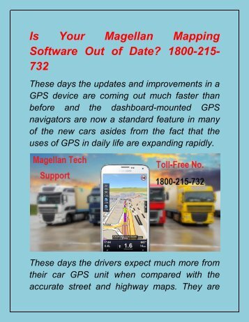 Is Your Magellan Mapping Software Out of Date 1800-215-732