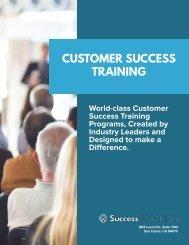SuccessCOACHING Customer Success Training Offerings