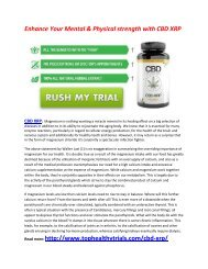 Improve Your Muscle Growth with CBD XRP