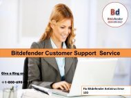 Fix Bitdefender Antivirus Error 100 Call 1800-690-9617