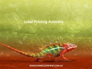 Label Printing Australia - Chameleon Print Group