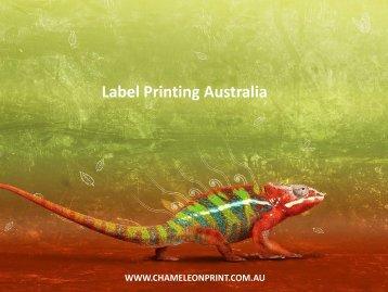 Label Printing Australia - Chameleon Print Group