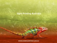 Signs Printing Australia - Chameleon Print Group