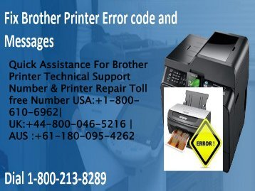 Fix Brother Printer Error code and Messages