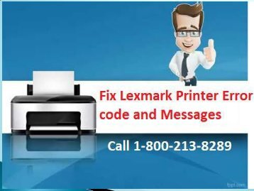 Fix Lexmark Printer Error code and Messages