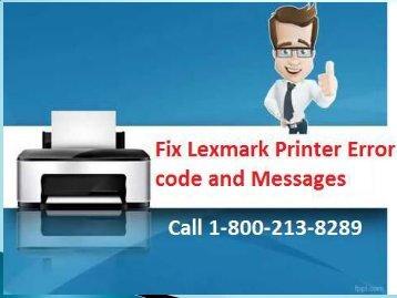 Fix Lexmark Printer Error code and Messages