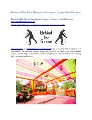 Trusted and best Event Management Company in Udaipur behind the scene