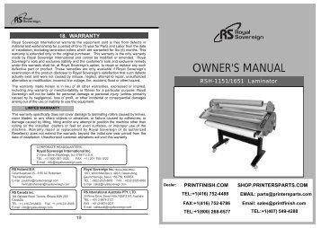 Royal Sovereign RSH-1151 Dual Hot Roll Laminator Machine - PrintFinish.com