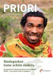 PRIORI Reisen Katalog 2018 - Madagaskar. Ganz schön anders.