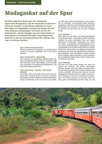 PRIORI Madagaskar Reiseroutenvorschlag: MG101