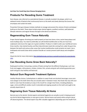 Best Products For Receding Gums Treatment