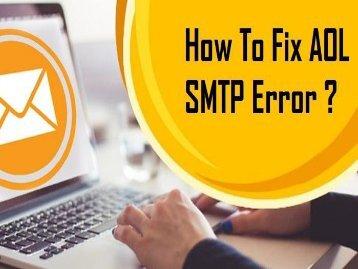1-800-488-5392| How to Fix AOL SMTP Error?