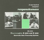 A new level of computer responsiveness. The new Burroughs B ...