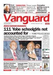 22022018 - BOKO HARAM INVASION: 111 Yobe schoolgirls not accounted for — YOBE POLICE BOSS