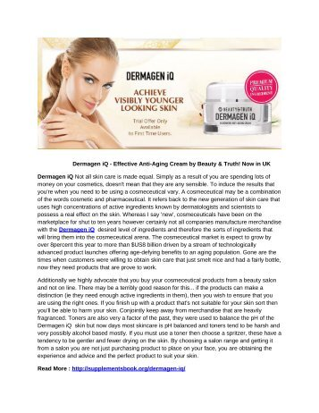 Dermagen iQ - Effective Anti-Aging Cream by Beauty & Truth! Now in UK