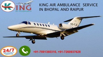king air ambulance service in Bhopal and Raipur