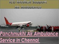 Medical ICU Support Air Ambulance Service in Chennai