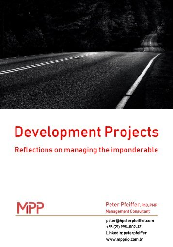 Development Projects - The challenge managing the imponderable