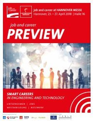 job and career at HANNOVER MESSE 2018_PREVIEW