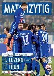 FC LUZERN MATCHZYTIG N°12 1718 (RSL 23)