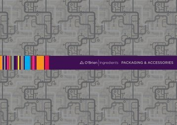O'Brien Ingredients Packaging & Accessories