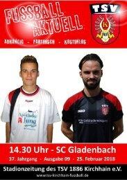25.02.2018 - Stadionzeitung SC Gladenbach