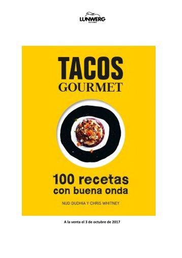 Libro de cocina TACOS - Gourmet - Nota de Prensa