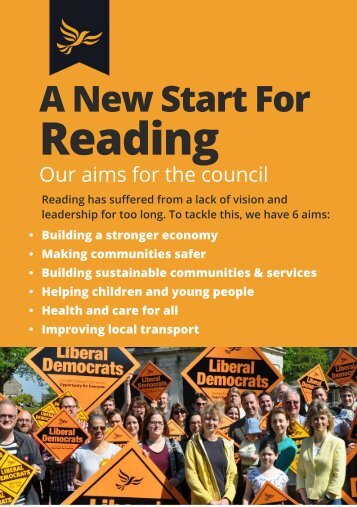 A New Start for Reading: the 2018 Manifesto from Reading Liberal Democrats