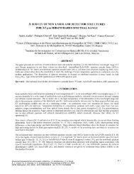 A SURVEY OF NEW LASER AND DETECTOR STRUCTURES FOR ...