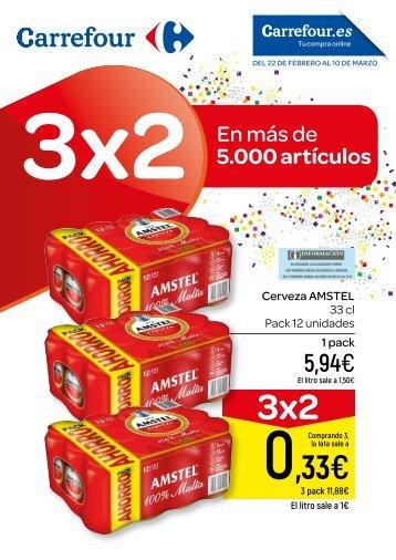 Carrefour folleto ofertas 3x2 en 5.000 articulos hasta 10 de marzo 2018