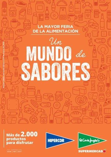 El Corte Inglés supermercado, Un MUNDO de SABORES hasta 21 de marzo 2018