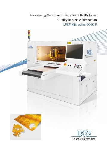 Processing Sensitive Substrates with UV Laser Quality in a New ...