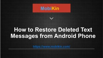 How to Restore Deleted SMS Messages from Samsung Phone