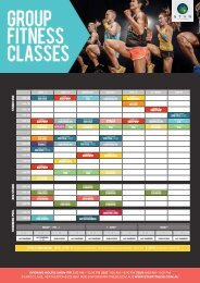 STAR Fitness Timetable (February 2018)